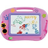 NUOLUX Kids Erasable Doodle Drawing Board Toys Gift for Girls Boy Kids Children (Random Color)
