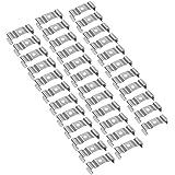uxcell 35 Packs T8 LED Light Bulbs U Clips Holder (32 x 12 x 10mm)