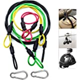 Camera Safety Tether, Stainless Steel Cable Wire Colorful Coating Lanyard with Hook Carabiner Clip for GoPro Hero 7 6 5 4 3 S