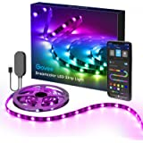 DreamColor LED Strip Lights with APP, Minger 6.6FT/2M USB Light Strip Built-in Digital IC, 5050 RGB Strip Lights, Color Chang