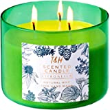 T & H Citronella Candles Outdoor Indoor 3-Wick Soy Scented Candles for Aromatherapy Stress Relief 75 Hour Burn