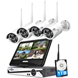 "[8CH Expandable]All in one with 10.1"" Monitor Wireless Security Camera System,HisEEu 8ch Wireless Home Security Camera System"