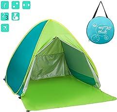 ワンタッチ テント サンシェードテント Aandyou 日除けUV50+ カーテン付き 2-3人用 超軽量 防水 通気性抜群 アウトドアキャンプ用品 キャリーバッグ付き