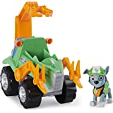Paw Patrol 6059988 Dino Rescue Rocky's Deluxe Rev Up Vehicle with Mystery Dinosaur Figure