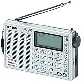 TECSUN PL-310ET デジタルDSP短波ラジオ ポータブルBCL受信機 FMステレオ/LW/MW/SW ワールドバンドレシーバー 500局プリセットメモリー 10キー シグナルメーター USB給電 ATSオートプリセット ETM スリープタイマー アラーム 高音質大口径スピーカー (ブラック)
