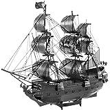 Fascinations ICONX Black Pearl Ship Black Version 3D Metal Model Kit