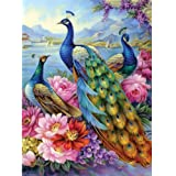 Bits and Pieces - Peacocks 300 Piece Jigsaw Puzzles for Adults - Each Puzzle Measures 18 Inch x 24 inch - 300 pc Jigsaws by A