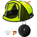 Zenph Automatic 2-3 Persons Family Camping Tent, 3 Seconds Automatic Opening Waterproof Sun Shelter, Automatic Instant Pop Up