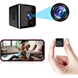 ORHIDAM Mini Spy Camera Wireless Hidden Small Nanny Cam WiFi Baby Monitor 1080P HD Home Security Indoor Video Recorder with L