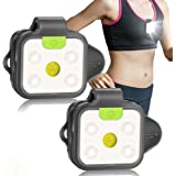 Running Light, 2Pack Reflective Safety Light for Runners, USB Rechargeable LED Light, Clip On Running Lights with Runners and