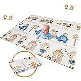 折り畳み式ベビープレイマット 子供のゲームパッド 育児 フロアマット 形状記憶 自宅 & 外遊び 滑り止め 防水 防音…