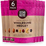 Second Nature Wholesome Medley Trail Mix, Healthy Nuts Snack Blend, Gluten Free, Resealable Pouch, 30 Ounce, Pack of 6