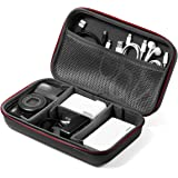 サンワダイレクト トラベルポーチ ガジェットポーチ セミハード 仕切り付 旅行 出張 便利グッズ マウス ケーブル モバイルバッテリー 収納ポーチ Lサイズ ブラック 200-BAGIN016BK