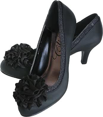 [プールヴー] 靴 パンプス ハイヒール 結婚式 二次会 レディース ブラック 21.5cm