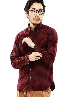 Oxford Gingham Buttondown Shirt 11-11-0918-139: Red / Black