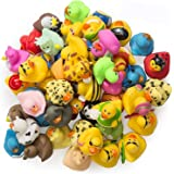 Rubber Ducks -50 Assorted Pieces-2 Inch - for Kids, Party Favors, Gift, Birthdays, Baby Showers, Baby Bath Toys, Bath Time, E