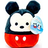 """Disney Squishmallow 8"""" Mickey Mouse Kelly Toys Super Soft Stuffed Plush Toy Pillow"""