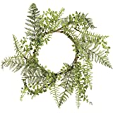 Primitives by Kathy Farmhouse Style Candle Ring, Mixed Greens