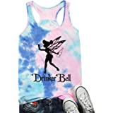 YUYUEYUE Drinkerbell Fairy O-Neck Tank Tops Women Tinkerbell Funny Graphic Printed Sleeveless Drinking Party Shirt Tees