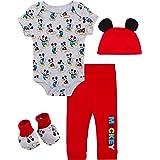 Disney Baby Boy's 4 Piece Layette Set: Mickey, Toy Story, Pooh, Lion King