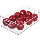 "InterDesign Refrigerator and Freezer Storage Organizer Bins for Kitchen, 10"" x 5"" x 14.5"", Clear"