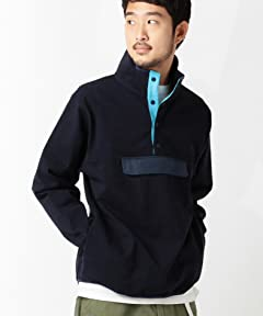 Stand Collar Pullover Blouson 11-18-2991-120: Navy / Saxe