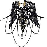 Eternity J. Elegant Vintage Princess Lace Gothic Necklace Bracelet Victorian Lolita Choker Pendant Vampire Chain