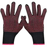 2-Pack Heat Resistant Glove for Hair Styling, VITI Professional Heat Proof Glove Mitts with Silicone Bumps for Hair Styling C