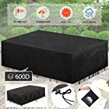 king do way 124'' Outdoor Patio Furniture Covers Waterproof 420D Oxford Polyester Durable Water Resistant Extra Large Size Fu