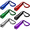 maxin 6 Pack Mini LED Keychain Flashlight, Battery Poweres Torch Light,Super Mini Key Chain Flashlights, for Home and Outdoor