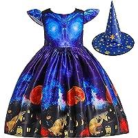 AYWYL ハロウィン コスプレ 仮装 子供 魔女 女の子 キッズ ドレス 衣装 演出服 2点セットレス&帽子 女の子…
