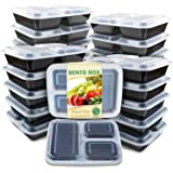 Enther Meal Prep Containers 36oz Lids, Food Storage Bento Box BPA Free/Reusable/Stackable Lunch Planning, Microwave/Freezer/D
