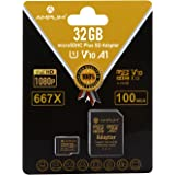 32GB MicroSD Micro SD SDHC Memory Card Plus Adapter (Class 10 U1 UHS-I V10 A1 HC Extreme Pro) Amplim 32 GB Ultra High Speed 6