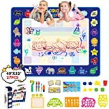 JANTODEC Aqua Magic Water Doodle Drawing Mat 40x32 Inches Coloring Painting Writing Mat-No Mess Educational Toys Birthday Gif