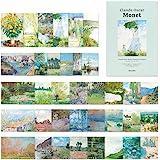 モノライク クロードモネ 葉書 はがき ポストカード Monet Postcard - 36セットの感性的なデザインはがきデイリーはがき、雰囲気のあるきれいなはがき長方形はがき、デザイン文句
