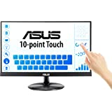 "ASUS VT229H 21.5"" Monitor 1080P IPS 10-Point Touch Eye Care with HDMI VGA, BLACK"