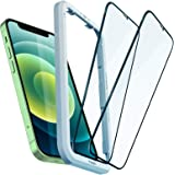Spigen AlignMaster Tempered Glass Compatible with iPhone 12 Mini, Pack of 2, Full Coverage, Scratch-Resistant, 9H Hardness Pr