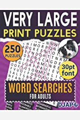 Very Large Print Puzzles: Word Searches for Adults: 250 puzzles in 30pt font (Word Search Books for Adults) ペーパーバック