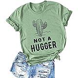 YourTops Women Not A Hugger T-Shirt Cactus Shirt