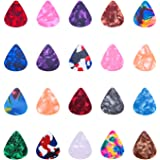 I-MART Stylish Colorful Celluloid Guitar Picks Plectrums for Guitar Bass Ukulele 0.46mm (Pack of 12 - Assorted Colors)