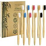 Dracarys 竹製の歯ブラシ 10本組(5色) 先細 磨きやすい エコ歯ブラシ 自然分解される環境に優しい竹製歯ブラシ 家庭用 旅行用
