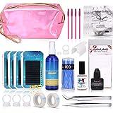 Eyelash Extension Kits, MYSWEETY Full Professional Eyelash Extensions C Curl Eyelahes Lashes Strip Graft Glue Lint-Free Under