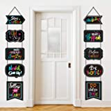 Classroom Decoration Motivational Banner Poster Inspirational Cards Motivation Porch Sign Positive Sayings Accents Cutouts fo