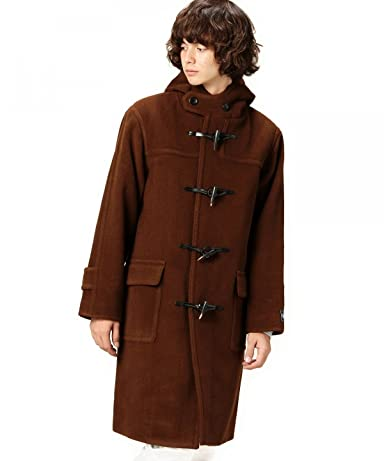 Cut Pile Wool Duffle Coat 1225-139-7029: Dark Brown