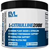 Evlution Nutrition L-Citrulline2000, Ultra-Pure Plant-Based Citrulline Powder Supplement, Enhance Muscle Strength & Vasculari