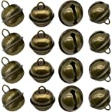 Maydahui 20PCS Vintage Jingle Bell 1 Inches Antique Decorative Tone Copper Bell for Pet Dog Cat Pendants Christmas Tree Craft