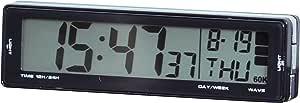 セイワ(SEIWA) 車用 時計 ソーラー電波クロック ブラック W661