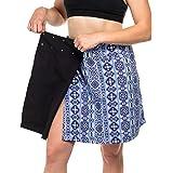 HDE Womens Cover Up Skirt 2-in-1 Wrap Around Swim Coverup - Hawaii Beach Length