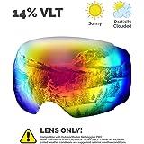OutdoorMaster Ski Goggles PRO - Frameless, Interchangeable Lens 100% UV400 Protection Snow Goggles for Men & Women