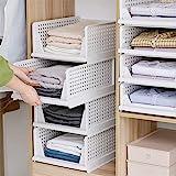 BOSSJOY 4-Pack Foldable Wardrobe Storage Box